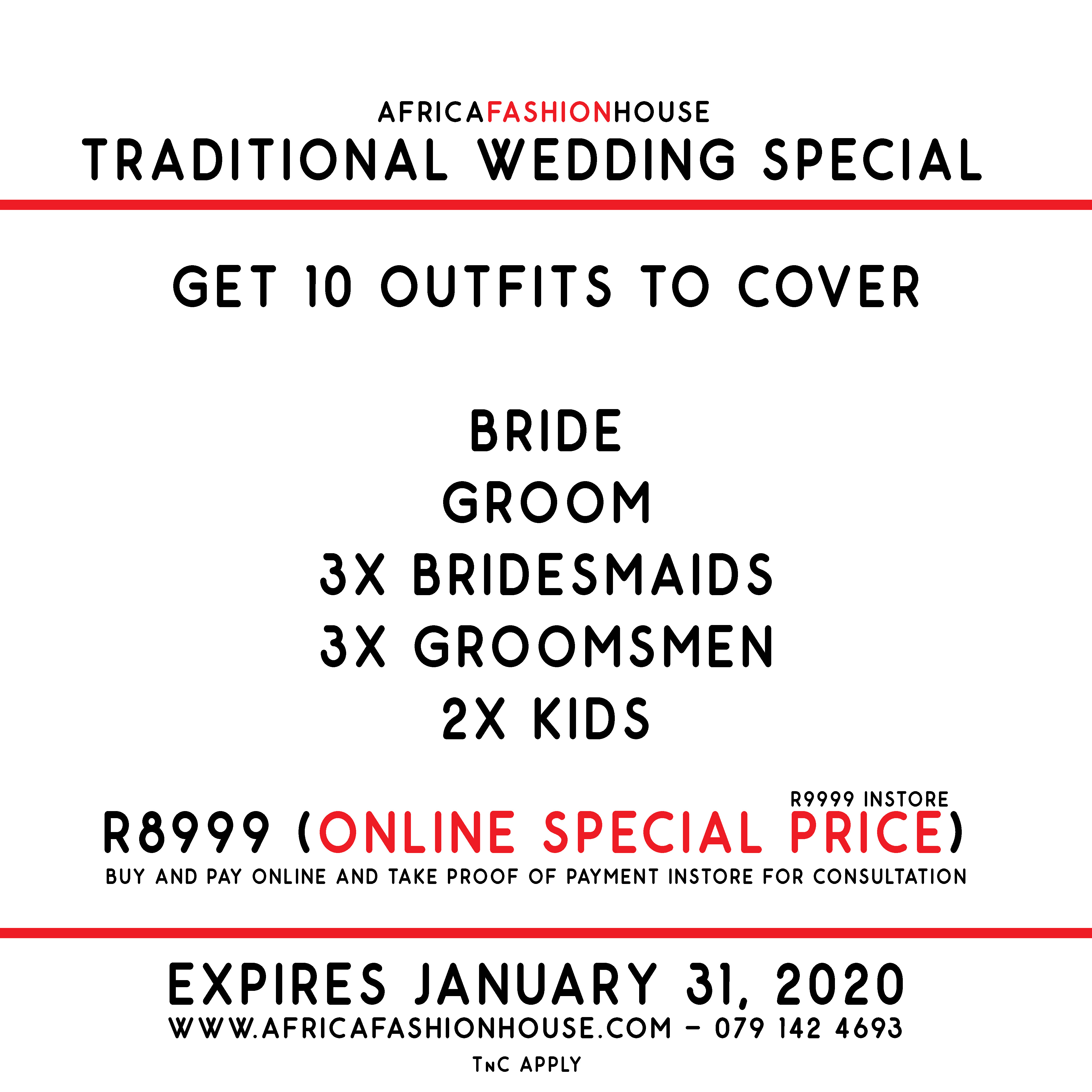 Traditional Wedding Special