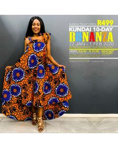 Kundai Tie-Up Dress