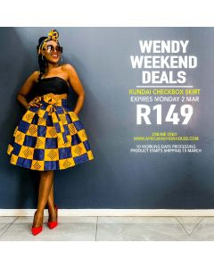 Kundai Checkbox Skirt